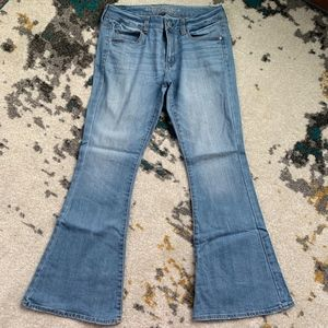 American Eagle Boho Flare Stretch Jeans 8 Short
